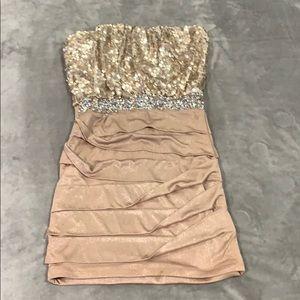 Strapless mini dress size 7